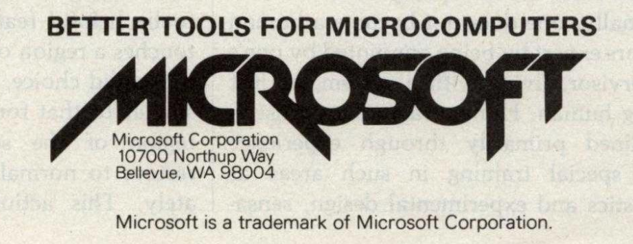 better tools for microcomputers, microsoft